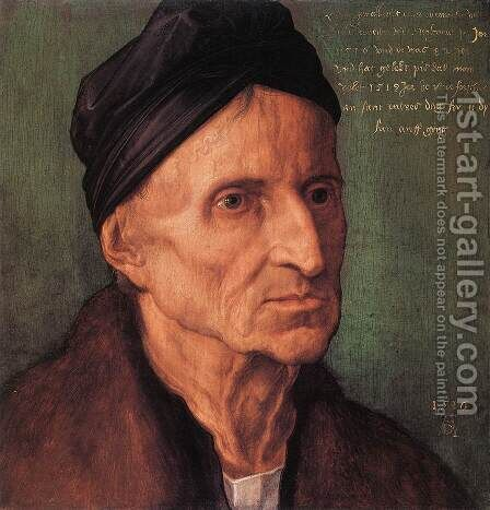 Portrait of Michael Wolgemut by Albrecht Durer - Reproduction Oil Painting