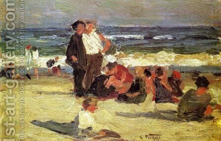 Beach Scene III by Edward Henry Potthast - Reproduction Oil Painting