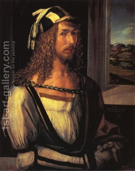 Self Portrait at 26 I by Albrecht Durer - Reproduction Oil Painting