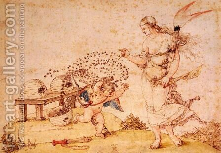 Cupid the Honey Thief by Albrecht Durer - Reproduction Oil Painting