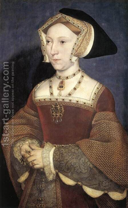 Portrait of Jane Seymour 2 by Hans, the Younger Holbein - Reproduction Oil Painting