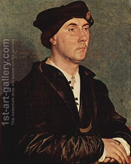 Portrait of Sir Richard Southwell by Hans, the Younger Holbein - Reproduction Oil Painting