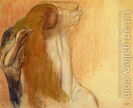 Woman Combing Her Hair V by Edgar Degas - Reproduction Oil Painting