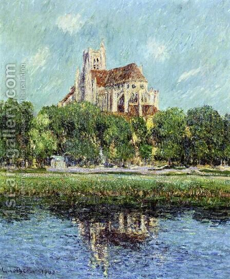 Auxerre Cathedral by Gustave Loiseau - Reproduction Oil Painting