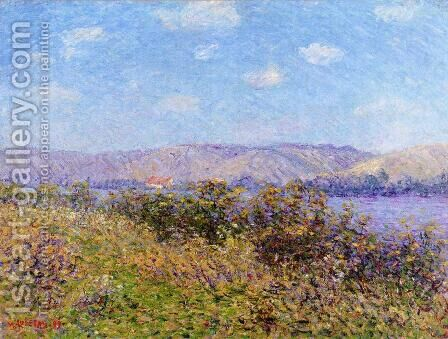 Banks of the Seine in Summer, Tournedos-sur-Seine by Gustave Loiseau - Reproduction Oil Painting