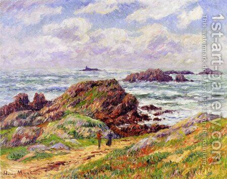 Rocks at Porspoder, Finistere by Henri Moret - Reproduction Oil Painting