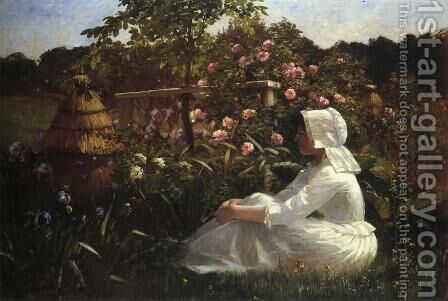 In a Field of Flowers by Abbott Fuller Graves - Reproduction Oil Painting