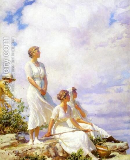 Summer Clouds by Charles Curran - Reproduction Oil Painting