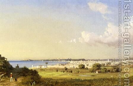 Havana Bay, Morro Castle by Charles DeWolf Brownell - Reproduction Oil Painting