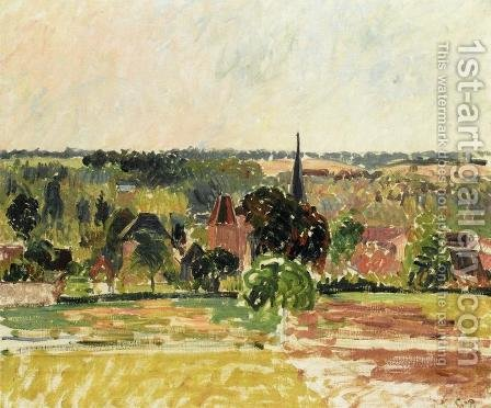 View of Eragny II by Camille Pissarro - Reproduction Oil Painting