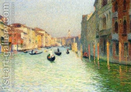 Gondolas in Venice by Henri Martin - Reproduction Oil Painting