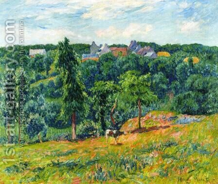Spring at Clohars by Henri Moret - Reproduction Oil Painting