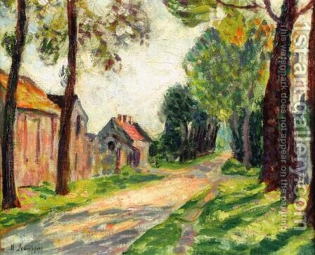 Street in Lagny, in Chessy by Henri Lebasque - Reproduction Oil Painting