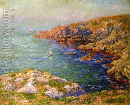 Calm, Coast of Brittany by Henri Moret - Reproduction Oil Painting