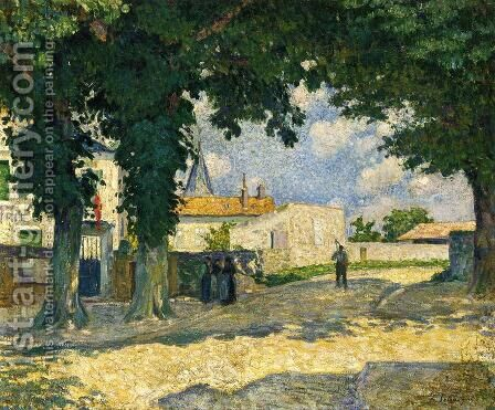 A Square in Monterain by Henri Lebasque - Reproduction Oil Painting