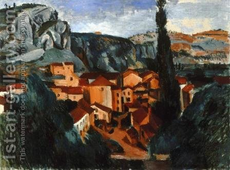 A Village by Andre Derain - Reproduction Oil Painting