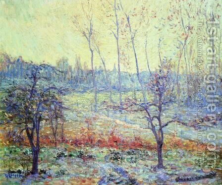 Landscape of Givre in the Mist by Gustave Loiseau - Reproduction Oil Painting