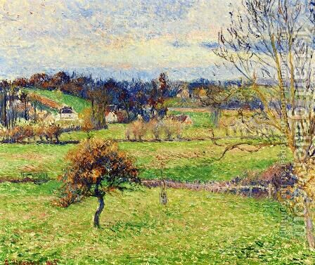 Field at Eragny by Camille Pissarro - Reproduction Oil Painting