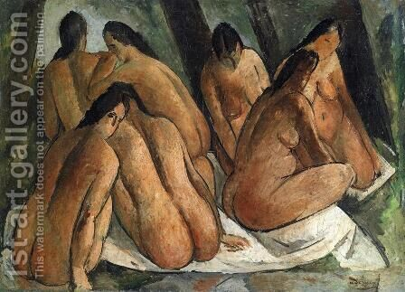 Bathers by Andre Derain - Reproduction Oil Painting
