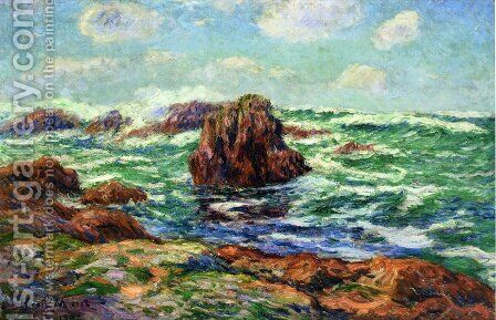Pern, Ile d'Ouessant by Henri Moret - Reproduction Oil Painting