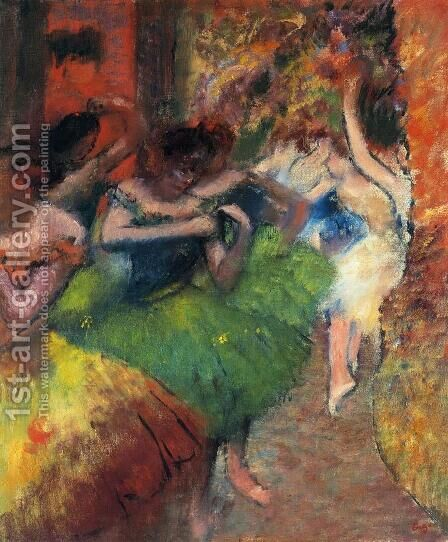 Dancers in the Wings II by Edgar Degas - Reproduction Oil Painting