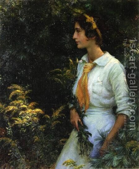 Goldenrod by Charles Curran - Reproduction Oil Painting