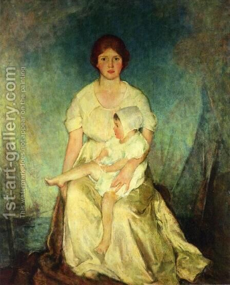 Motherhood Triumphant by Charles Hawthorne - Reproduction Oil Painting