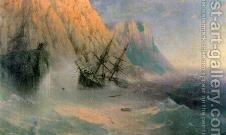The Shipwreck I by Ivan Konstantinovich Aivazovsky - Reproduction Oil Painting