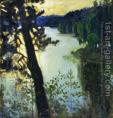 Landscape from Ruovesi by Akseli Valdemar Gallen-Kallela - Reproduction Oil Painting