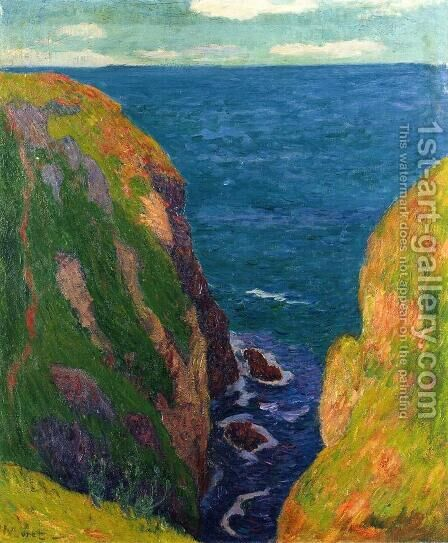 Trou de l'Enfer at Groix by Henri Moret - Reproduction Oil Painting