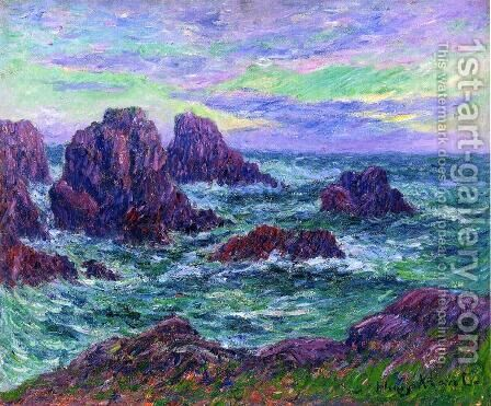 Evening at Ouessant by Henri Moret - Reproduction Oil Painting