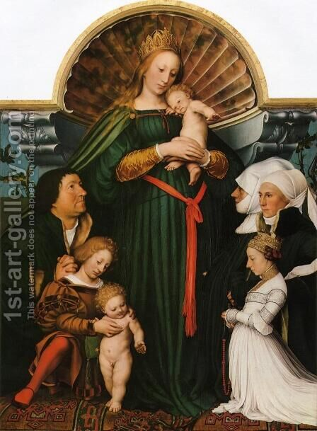 Meyer Madonna by Hans, the Younger Holbein - Reproduction Oil Painting