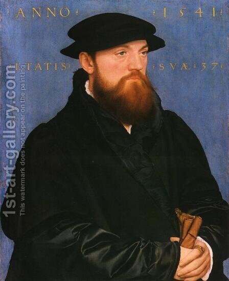 Portrait of De Vos van Steenwijk by Hans, the Younger Holbein - Reproduction Oil Painting