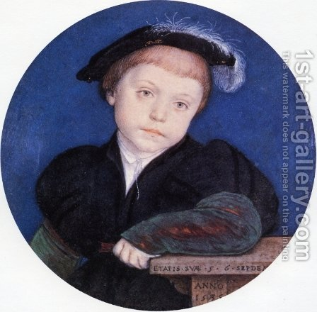 Portrait of Charles Brandon by Hans, the Younger Holbein - Reproduction Oil Painting