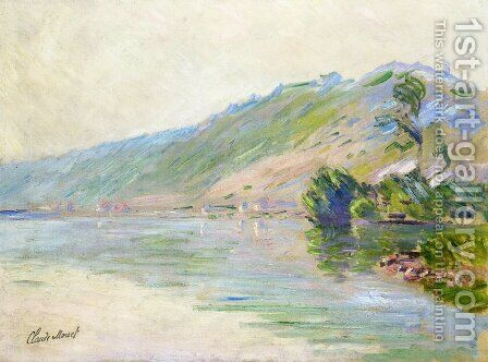 The Seine at Port-Villes, Clear Weather by Claude Oscar Monet - Reproduction Oil Painting