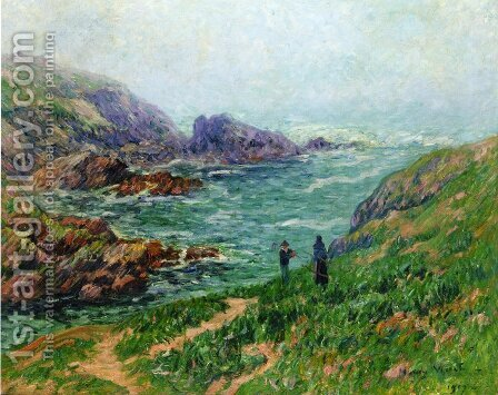 Foggy Weather, Brittany by Henri Moret - Reproduction Oil Painting