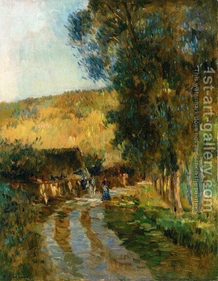 Road in the Vallee de L'Iton by Albert Lebourg - Reproduction Oil Painting