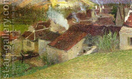 The Center of La Bastide du Vert by Henri Martin - Reproduction Oil Painting
