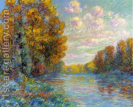 The River in Autumn by Gustave Loiseau - Reproduction Oil Painting