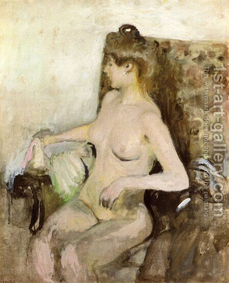 Seated Nude by Edouard  (Jean-Edouard) Vuillard - Reproduction Oil Painting