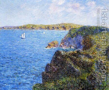 Cove at Sevignes, Cap Frehel by Gustave Loiseau - Reproduction Oil Painting