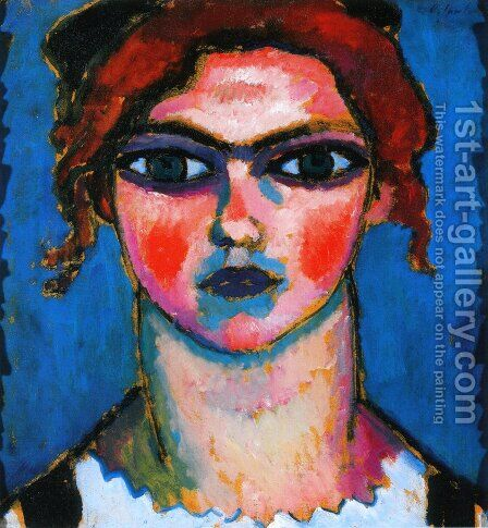 Young Girl with Green Eyes by Alexei Jawlensky - Reproduction Oil Painting