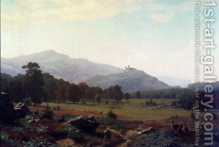 Autumn in the Conway Meadows Looking towards Mount Washington, New Hampshire by Albert Bierstadt - Reproduction Oil Painting