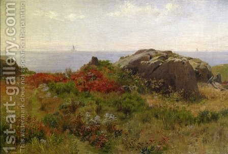 Sunny Morning, Cape Ann, Massachusetts by Charles DeWolf Brownell - Reproduction Oil Painting