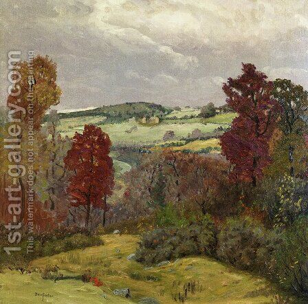 Autumn in New England by Ben Foster - Reproduction Oil Painting