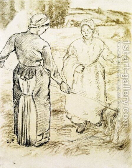 The Tedders I by Camille Pissarro - Reproduction Oil Painting