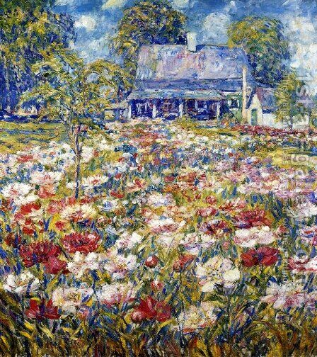The Peony Garden by D. Putnam Brinley - Reproduction Oil Painting