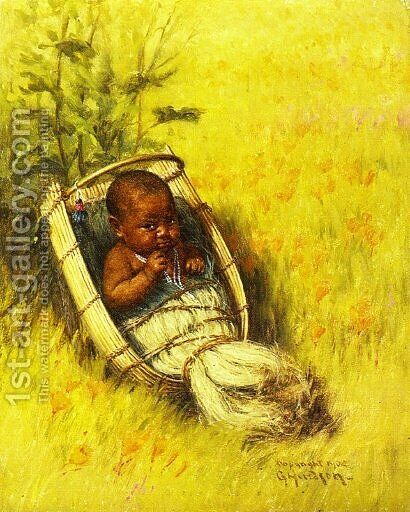 Indian Papoose Kawasi by Grace Carpenter Hudson - Reproduction Oil Painting