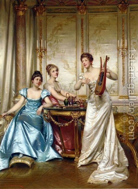 The Charming Performance by Charles Joseph Frederick Soulacroix - Reproduction Oil Painting