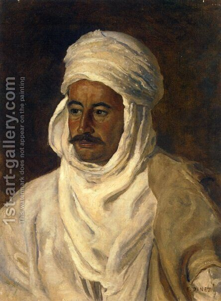 Portrait of Ahmed Es Seghir (Baba Ahmed) by Alphonse Etienne Dinet - Reproduction Oil Painting